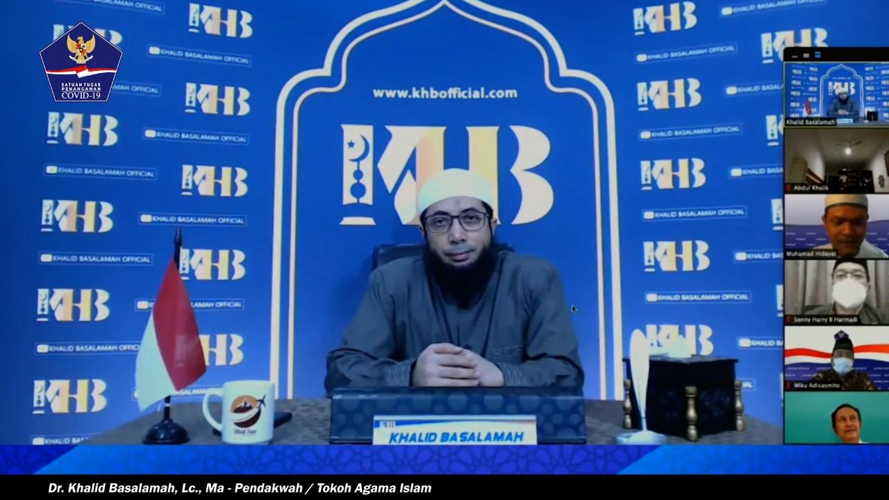 Tim Gugus Tugas Covid 19 Ucapkan Terima Kasih kepada Ustadz Khalid Basalamah.